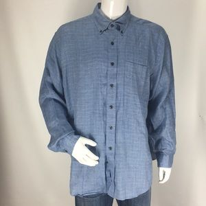 Brooks Brothers Linen Check Button Down Size XL